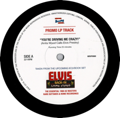 Anita Wood Calls Elvis - 12''
