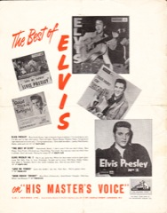 ELVIS PRESLEY HMV Worldwide Discography - A.White