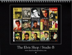 Elvis Shop / Studio B 2020 Calendar*see notes & January